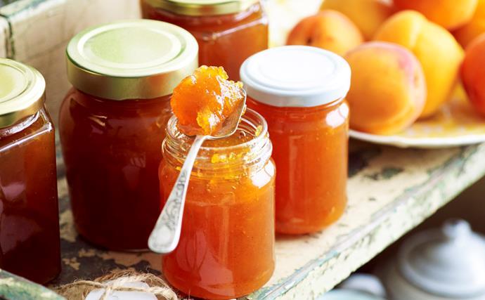 Fresh apricot jam
