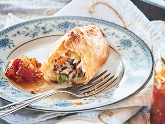 Mini sausage breakfast pasties