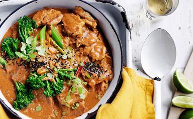 Piri piri coconut pork curry