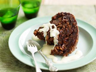 Classic boiled Christmas pudding
