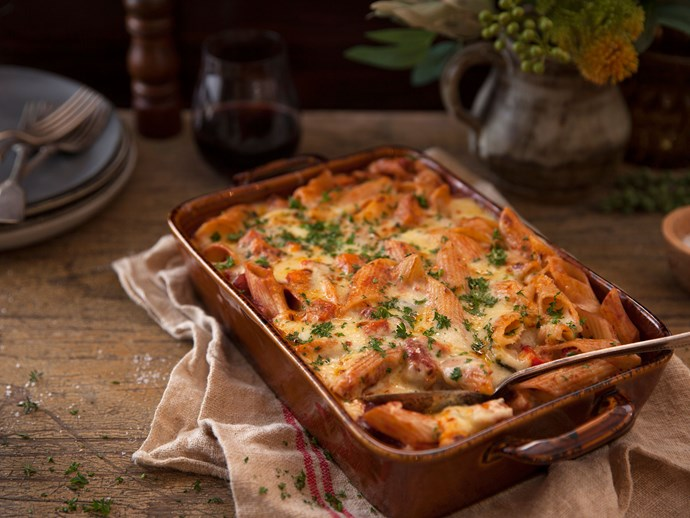 "Penne is perfect for [pasta bakes](https://www.foodtolove.co.nz/recipes/roasted-vegetable-pasta-bake-8483|target=""_blank""), as their hollow shape holds well to thicker sauces."