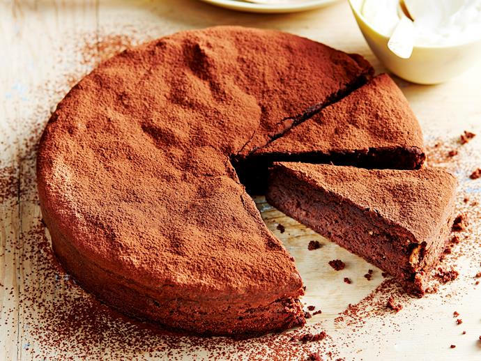 """**[Flourless chocolate hazelnut cake](http://www.womensweeklyfood.com.au/recipes/flourless-chocolate-hazelnut-cake-7393