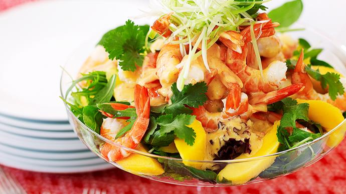 Prawn and mango salad