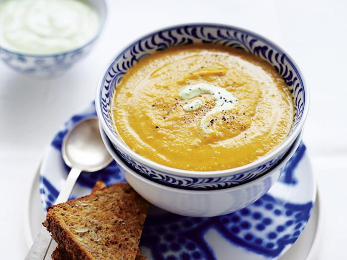 "**[Hearty vegetable and lentil soup](http://www.womensweeklyfood.com.au/recipes/hearty-vegetable-and-lentil-soup-26560|target=""_blank"")**  This feel-good soup goes up a notch, seasoned with a hint of citrus in the form of coriander-blended yoghurt."