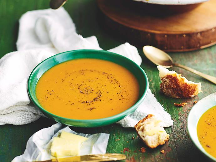 "**[Pumpkin soup](http://www.womensweeklyfood.com.au/recipes/pumpkin-soup-6462|target=""_blank"")**  There are all kinds of variations of pumpkin soup, but sometimes the only thing that will really hit the spot is the original."