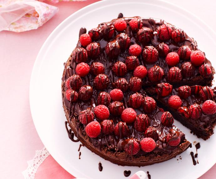 Chocolate and raspberry cake