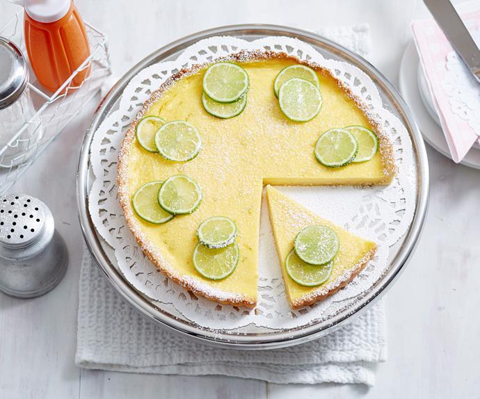 Lemon lime tart