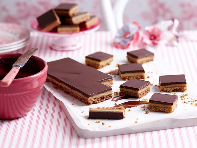 """**[Chocolate caramel slice](https://www.womensweeklyfood.com.au/recipes/caramel-slice-11734