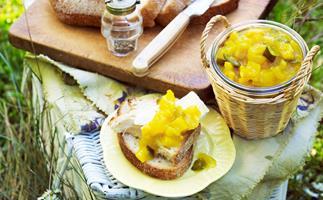 Sweet mustard pickles