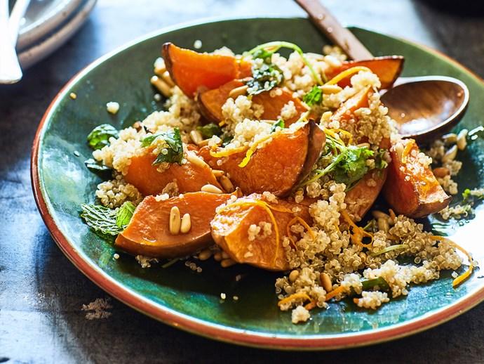 Pumpkin, orange and quinoa salad
