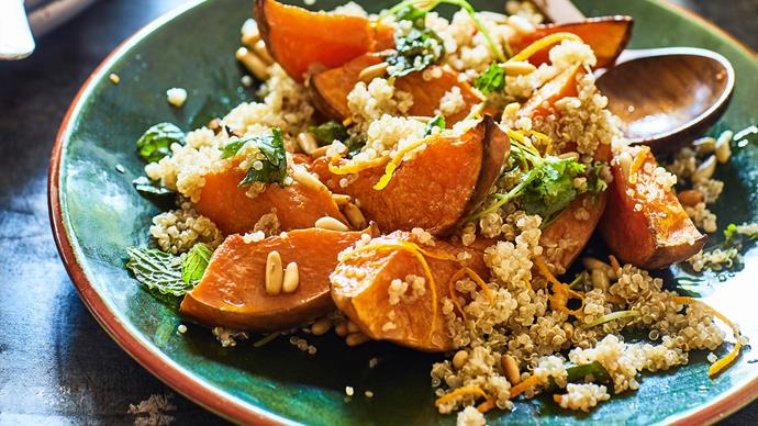 Pumpkin, orange and quinoa salad