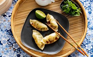 Prawn and coriander steamed dumplings
