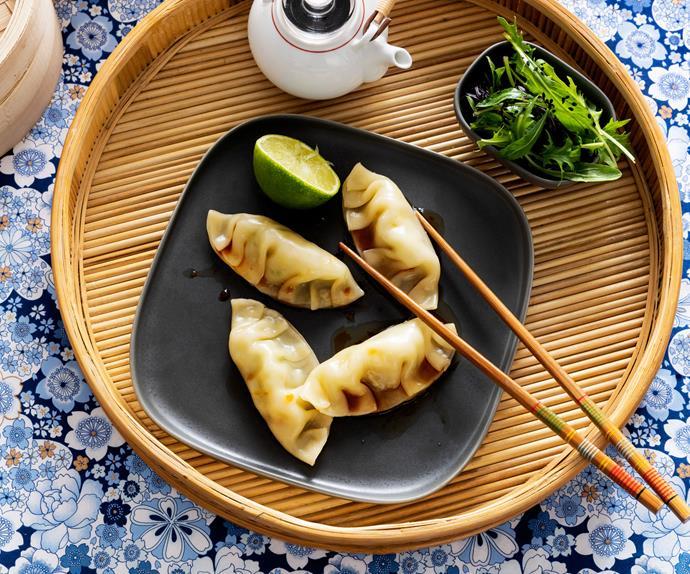 Prawn and coriander steamed dumplings