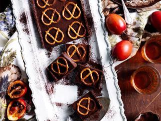 CHOCOLATE & PRETZEL TART