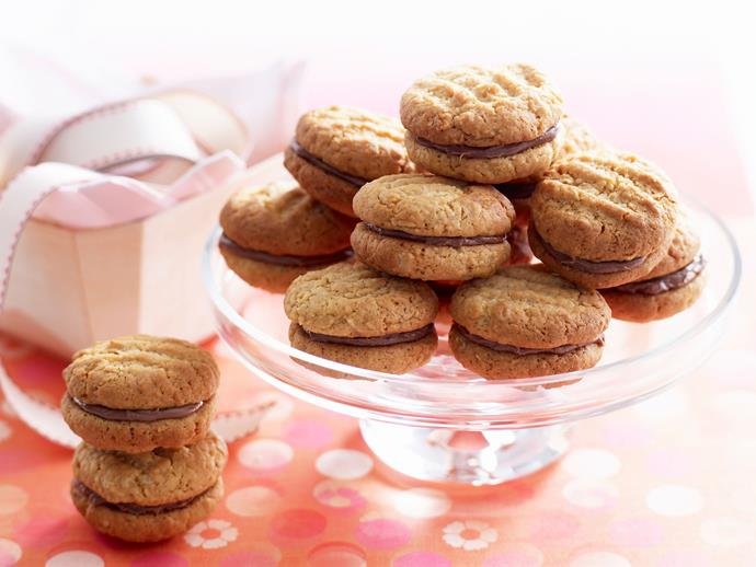 """**[Kingston biscuits](https://www.womensweeklyfood.com.au/recipes/kingston-biscuits-18703 target=""""_blank"""")**  The only thing better than Kingston [biscuits](https://www.womensweeklyfood.com.au/tags/biscuit-or-cookie target=""""_blank"""") are homemade ones. These chewy [coconut](https://www.womensweeklyfood.com.au/tags/coconut target=""""_blank"""") morsels filled with chocolate ganache go perfectly with a cuppa."""