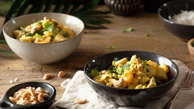 Coconut turmeric fish curry