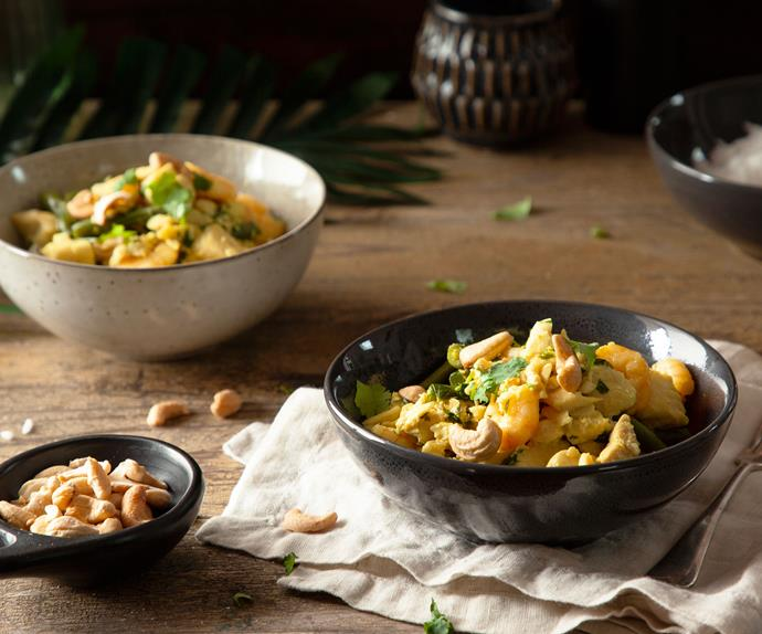 Coconut turmeric fish curry