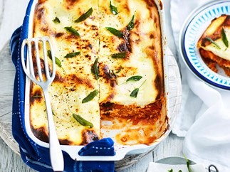 Cheat's pork and fennel lasagne