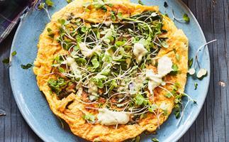 Green goddess omelette