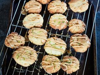White chocolate and lime biscuits