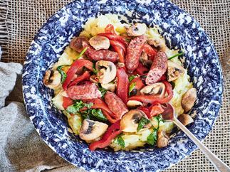 Chorizo and parsnip mash