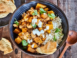 Pumpkin and cashew curry