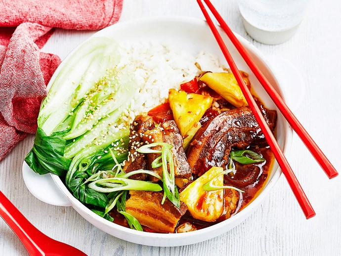 Sweet and sour slow-cooker pork
