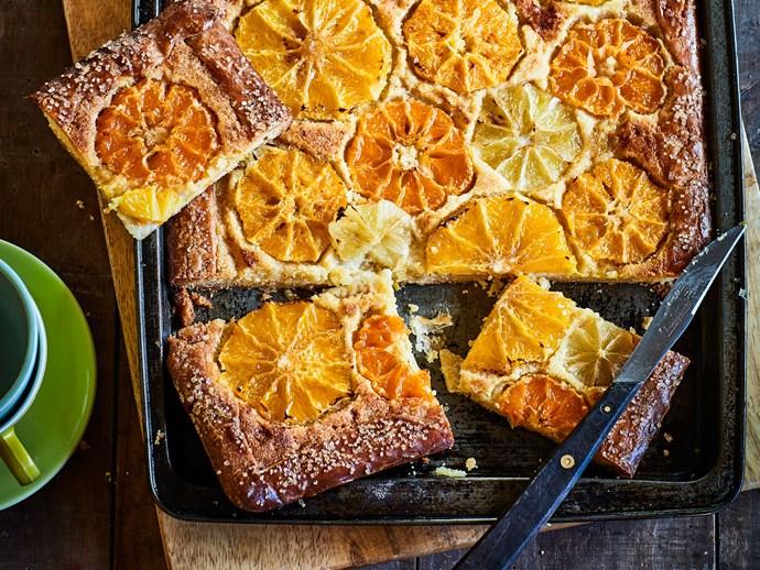 Citrus frangipane tart