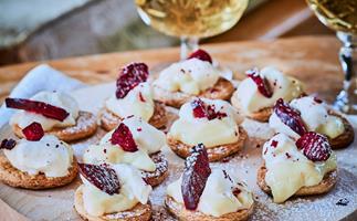 Mini fruit and custard tarts