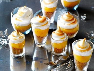 Lemon meringue pie shots