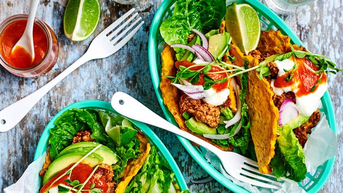 Chipotle pork in carrot tacos
