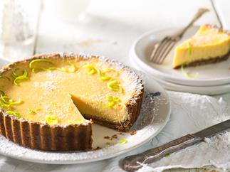 Lime and ginger tart