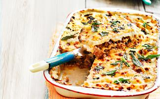 Pork, mushroom and sage lasagne
