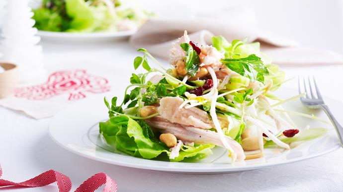 Turkey, cranberry and peanut salad