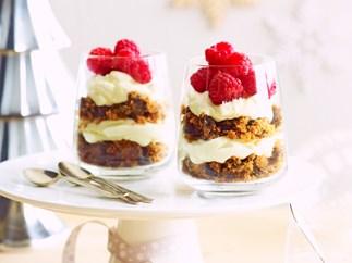 Fruit cake cream parfaits