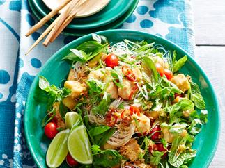 Fish with mint and lemongrass