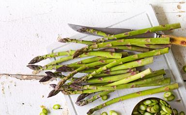 In season with Food magazine: asparagus