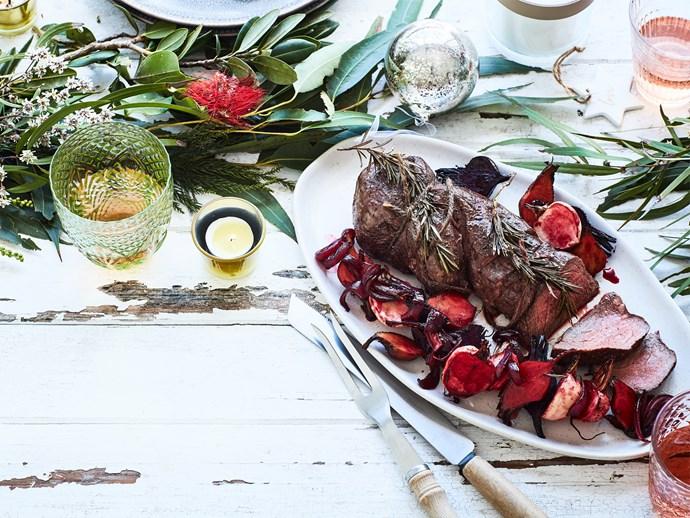 Rosemary roast beef fillet
