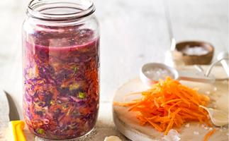 Carrot, cabbage and ginger kraut