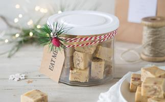 Vanilla pecan butter fudge