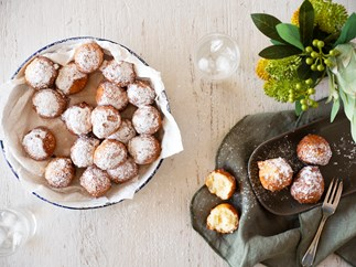 Coconut and lime beignets