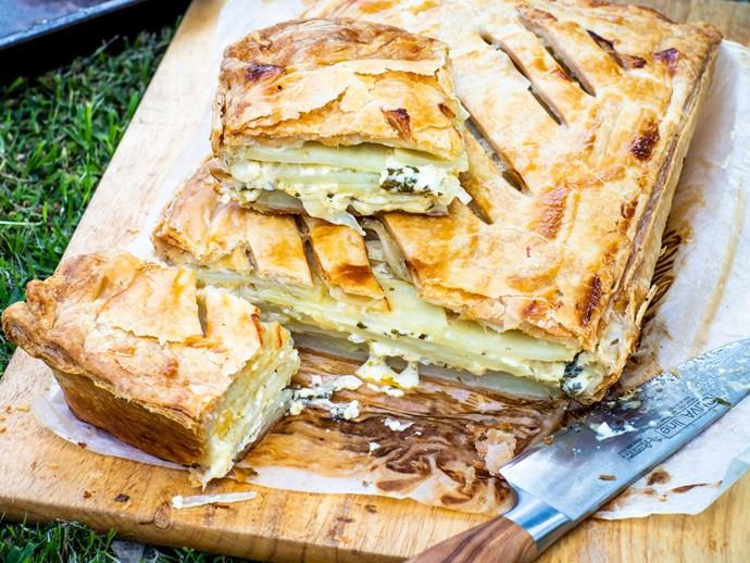 Potato, herb and crème fraîche pie