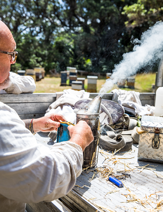 To minimise disruption to hives, the family avoids the use of chemicals, instead using smoke to calm the bees while the honey is harvested.