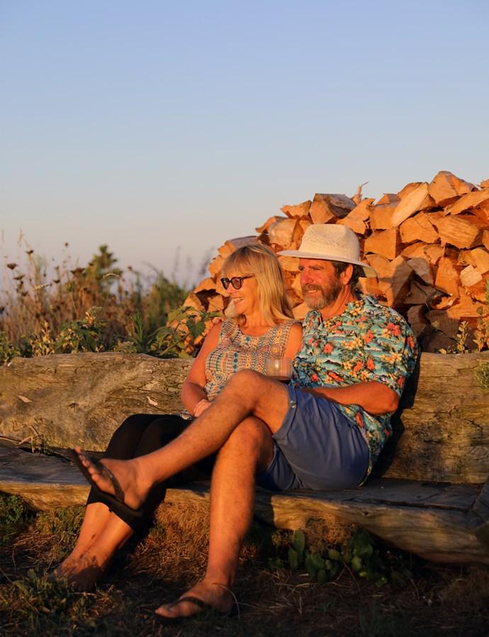 *David and Nuala Marshall enjoying golden hour watching the ocean*