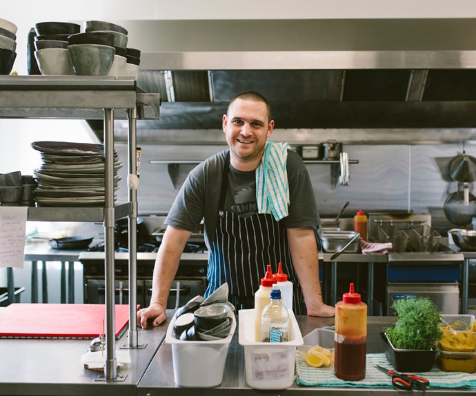 Head Chef Will Michell creating magic in the kitchen.