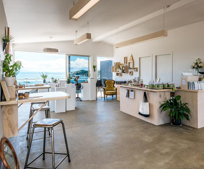 The tranquil Timmy Smith space on Waiheke Island looks out over beautiful Oneroa Bay.
