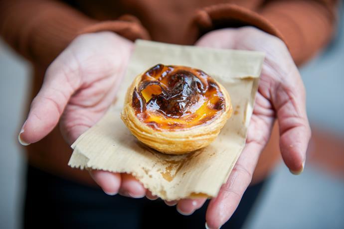 Portuguese egg tart.