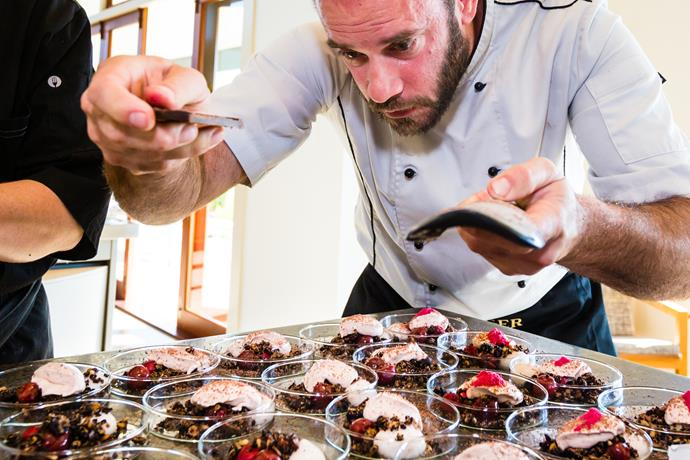 Chef James Beck in action at a past event.