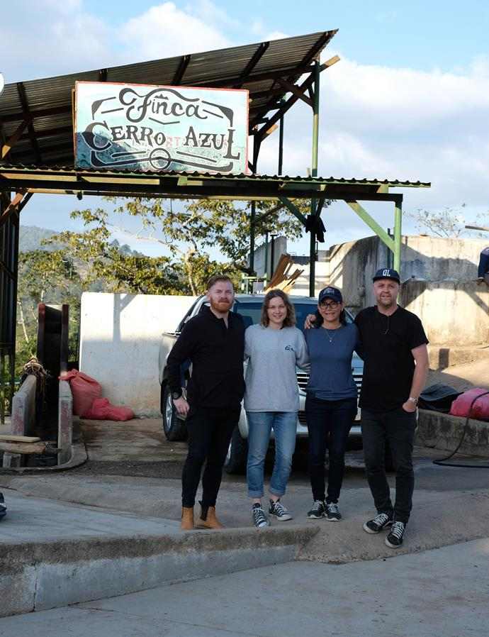 The Ozone team at Finca Cerro Azul in the Siguatepeque coffee growing region of Honduras in March, 2019.