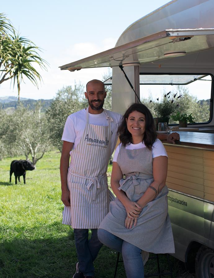 Tommy and Luisa, the couple behind Amaranto Pasta & Cucina.